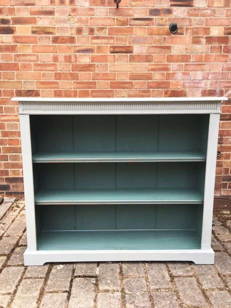 Edwardian Painted Oak Open Bookcase3