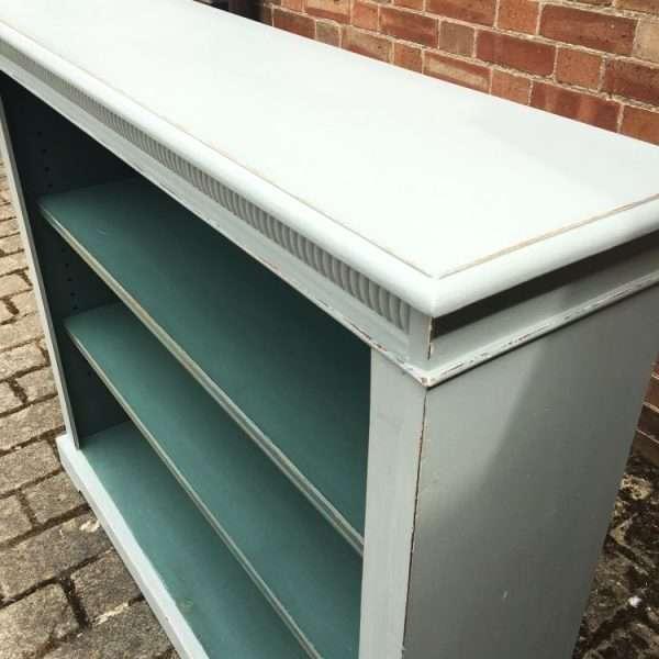 Edwardian Painted Oak Open Bookcase2