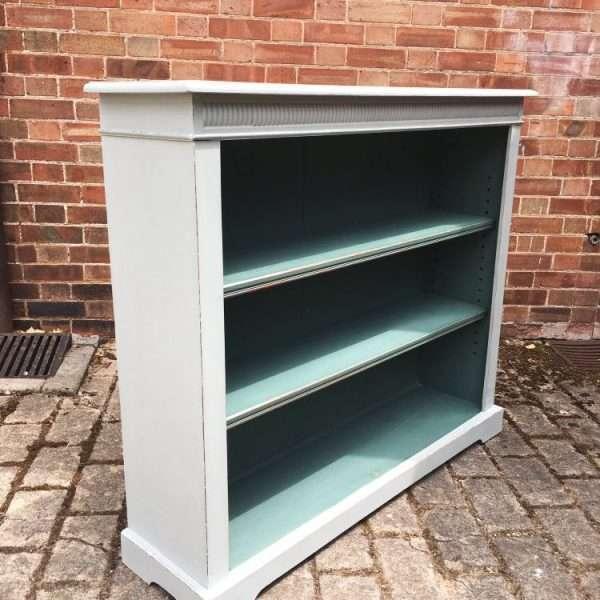Edwardian Painted Oak Open Bookcase