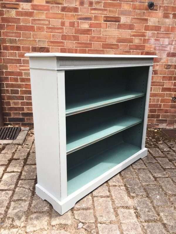 Edwardian Painted Oak Open Bookcase SOLD  – Ref:1298