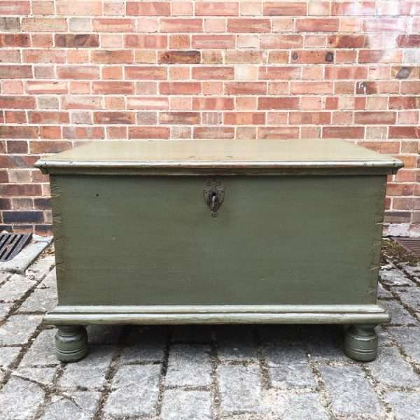 Early 19th Century Painted Ash Box1