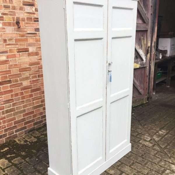 Mid 19th Century Painted Pine Linen Cupboard1