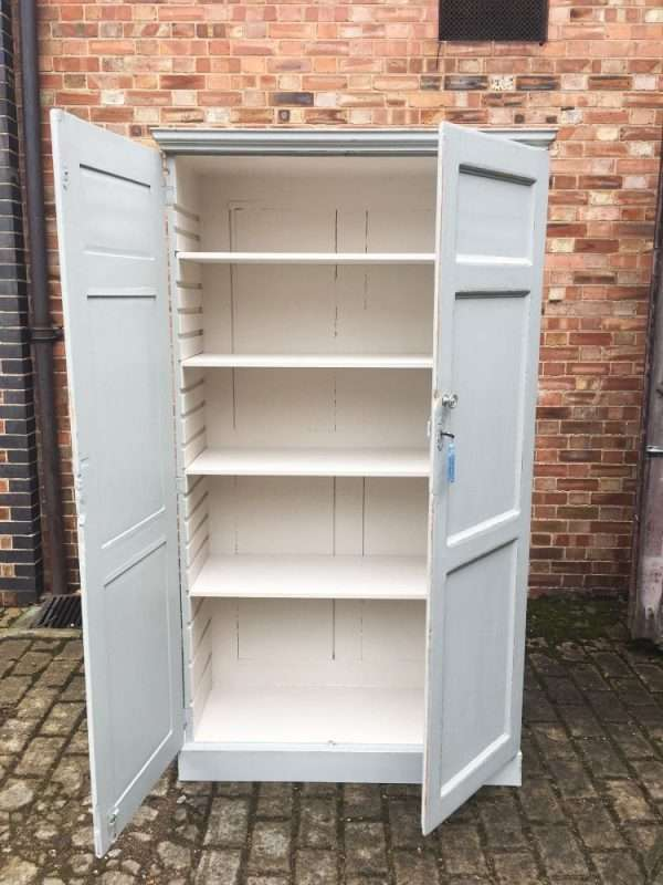 Mid 19th Century Painted Pine Linen Cupboard SOLD  – Ref:1302