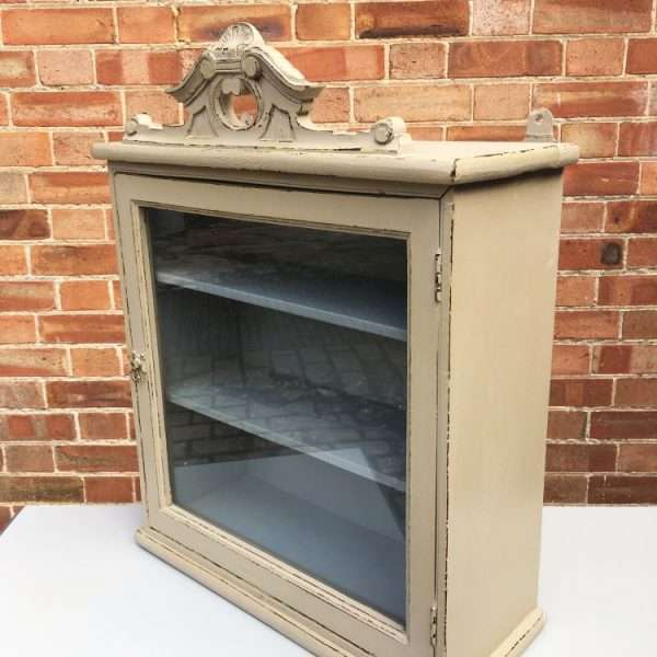Late 19th Century Painted Hanging Cupboard1