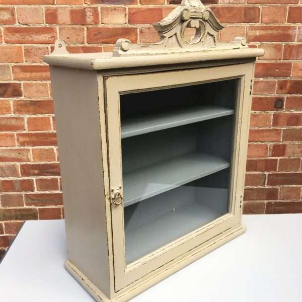 Late 19th Century Painted Hanging Cupboard2