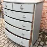 George III Painted Mahogany Bow Front Chest SOLD – Ref:1304