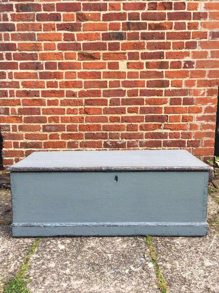 Mid Victorian Painted Pine Blanket Box5