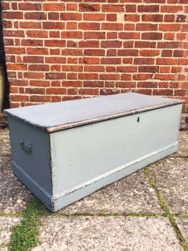 Mid Victorian Painted Pine Blanket Box SOLD  – Ref:1309