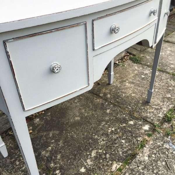 Edwardian Painted Mahogany Dressing Table