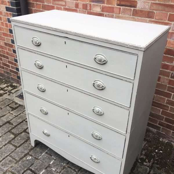 Regency Painted Mahogany 5 Drawer Chest2