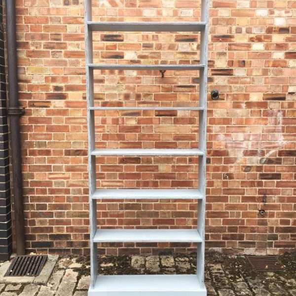 Late Victorian Painted Pine Tall Shelves4