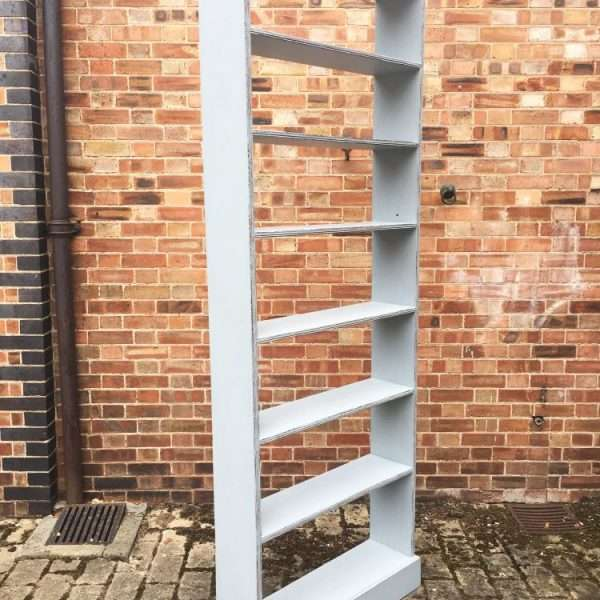 Late Victorian Painted Pine Tall Shelves3