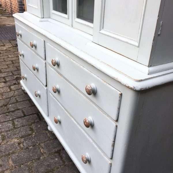 Mid Victorian Painted Pine Dresser1