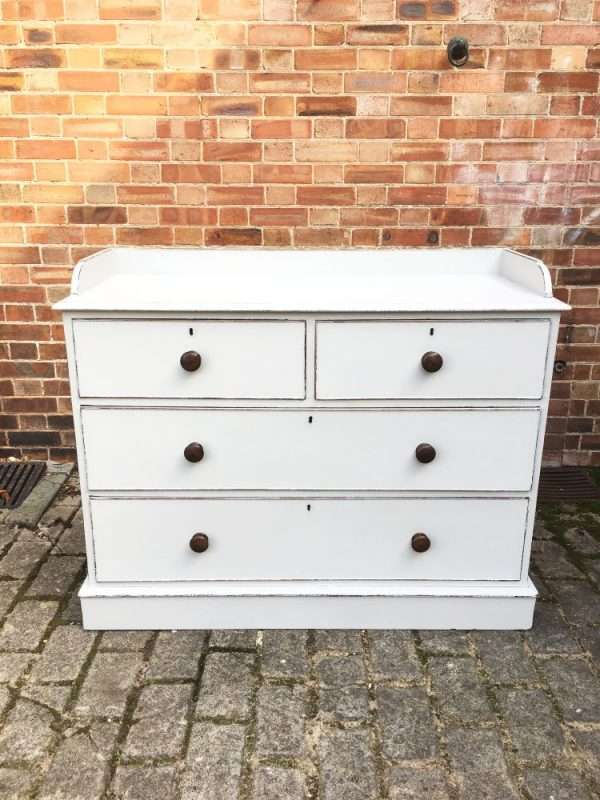 Early Victorian Painted Mahogany Chest Of Drawers SOLD – Ref:1318