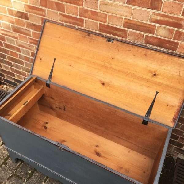 Regency Painted Pine Blanket Box2