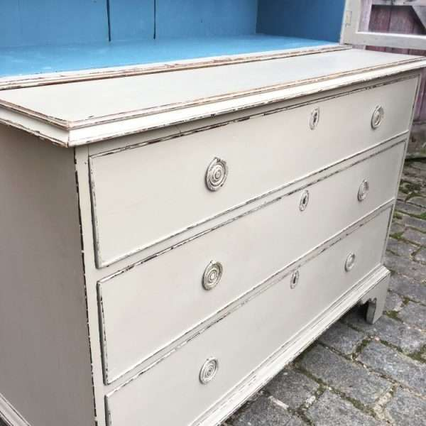 Regency Painted Mahogany Cabinet On Chest