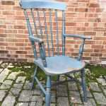 Late 19th Century Painted Elm Grandfathers Chair SOLD – Ref:1323