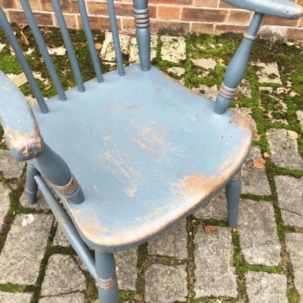 Late 19th Century Painted Elm Grandfathers Chair
