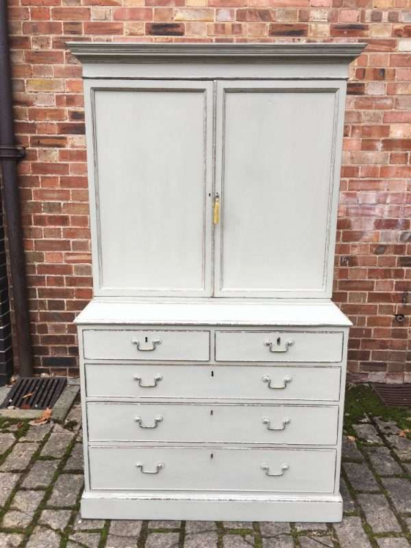 Regency Painted Mahogany Cupboard On Chest SOLD – Ref:1325