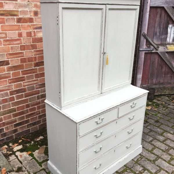 Regency Painted Mahogany Cupboard On Chest4