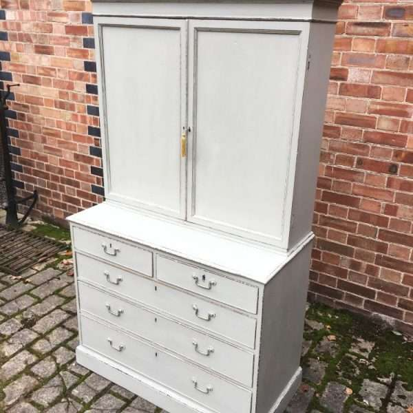Regency Painted Mahogany Cupboard On Chest3