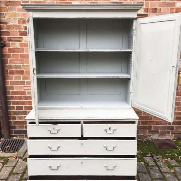 Regency Painted Mahogany Cupboard On Chest2