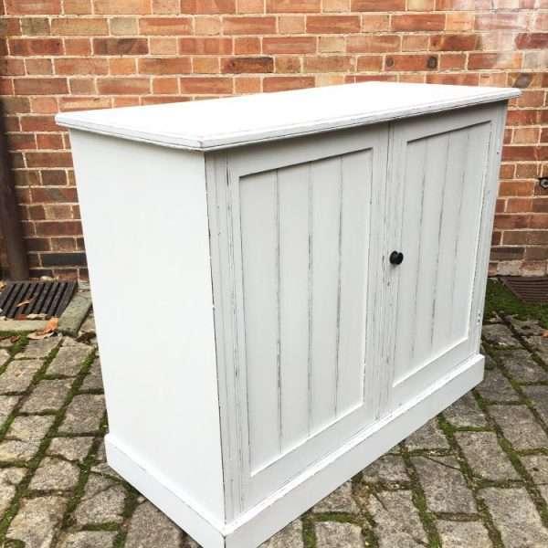 Edwardian Painted Walnut Cupboard