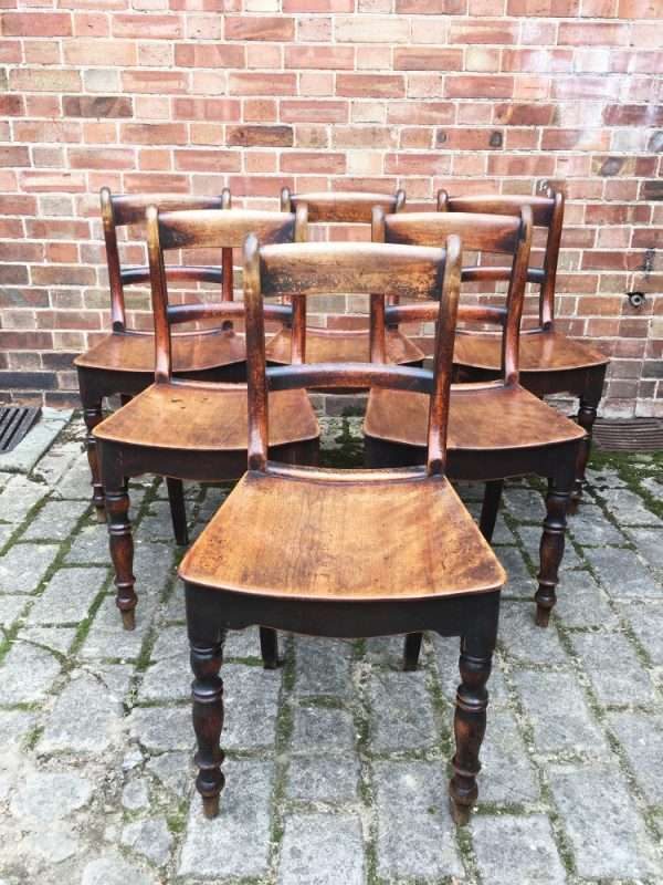 Set Of 6 Early Victorian Birch Cottage Chairs SOLD – Ref:1328
