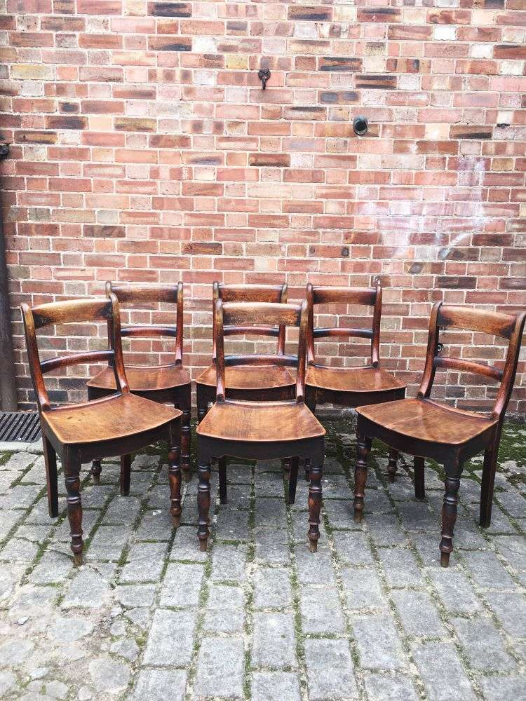 Set Of 6 Early Victorian Birch Cottage Chairs4