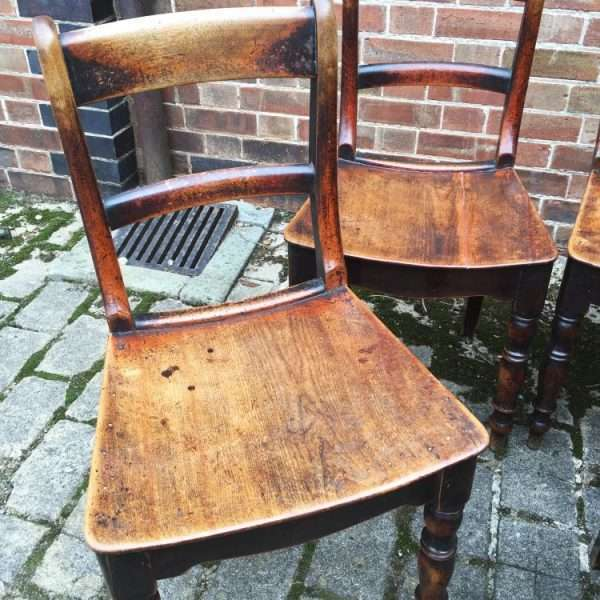 Set Of 6 Early Victorian Birch Cottage Chairs3