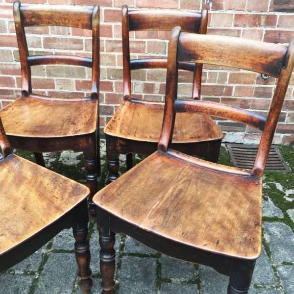 Set Of 6 Early Victorian Birch Cottage Chairs2