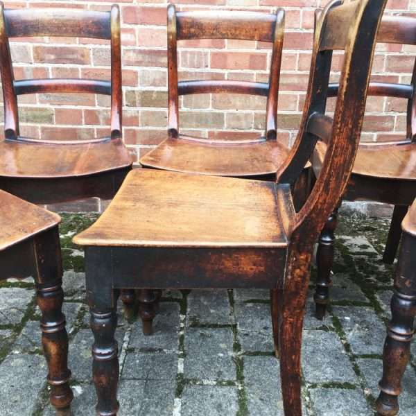 Set Of 6 Early Victorian Birch Cottage Chairs1