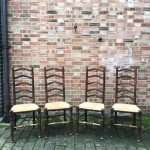 Edwardian Beech Ladder Back Chairs SOLD – Ref:1333