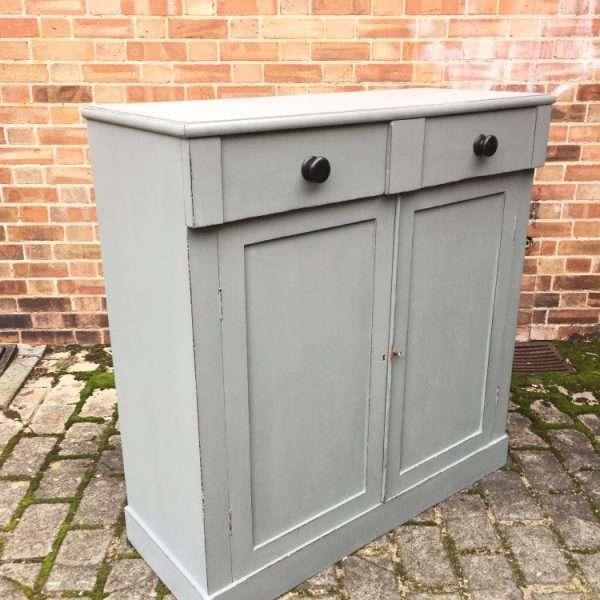 Early Victorian 2 Door Cupboard1