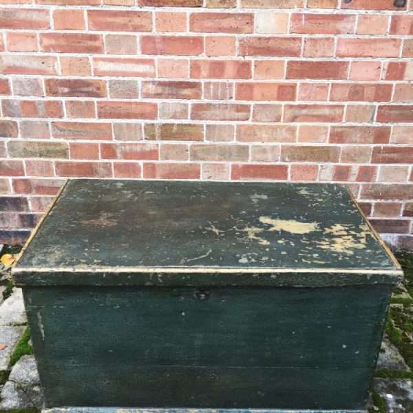 Mid 19th Century Painted Pine Box1