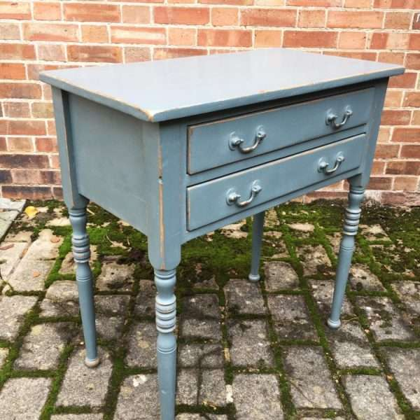 Edwardian Painted Pine Two Drawer Table2