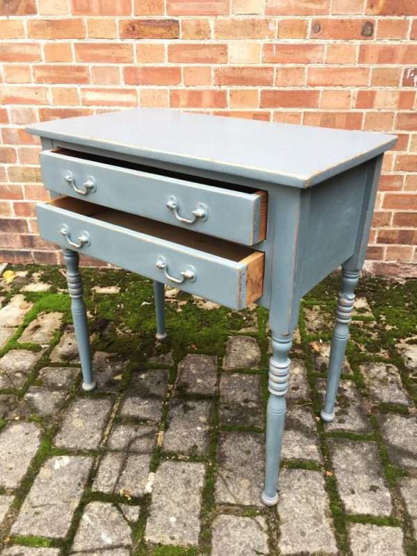 Edwardian Painted Pine Two Drawer Table SOLD – Ref:1341