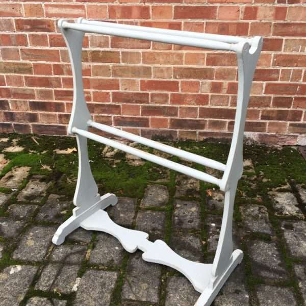 Early Victorian Painted Pine Towel Rail