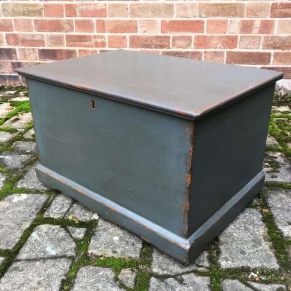Mid Victorian Painted Pine Box3