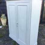 Late Victorian Painted Mahogany 2 Door Linen Cupboard SOLD – Ref:1350