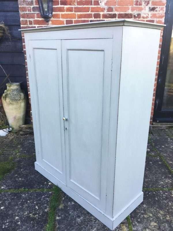 Late Victorian Painted Mahogany 2 Door Linen Cupboard SOLD – Ref:1350