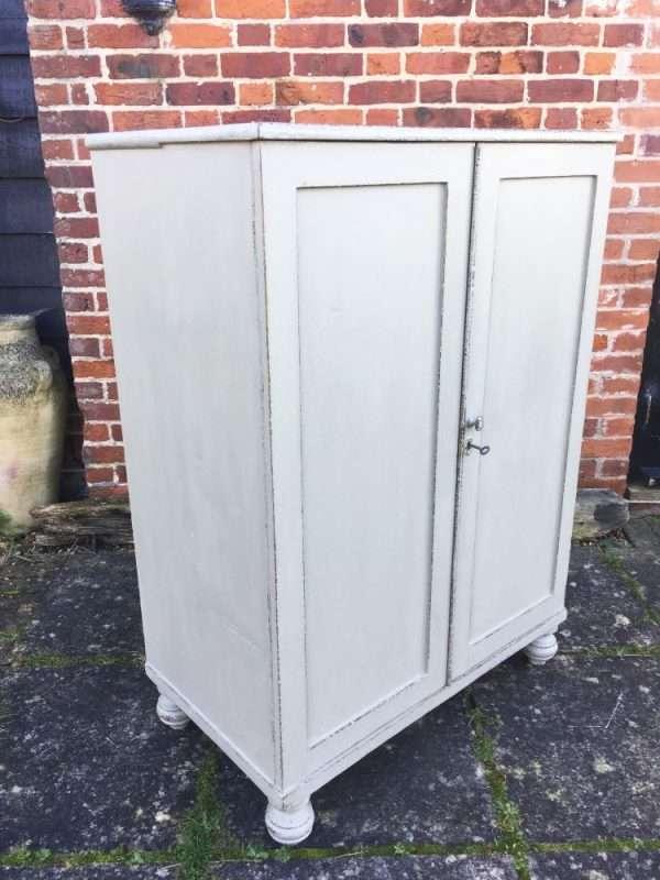 Mid Victorian Painted Pine 2 Door Cupboard SOLD – Ref:1348