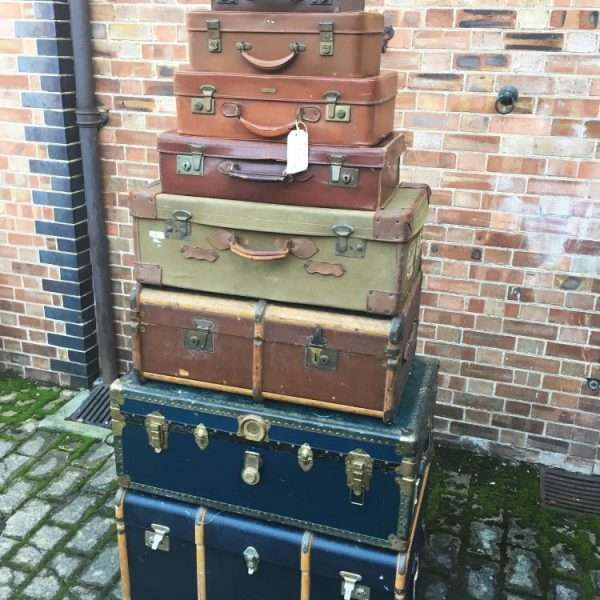 Graduated Stack Of Antique Trunks & Cases3