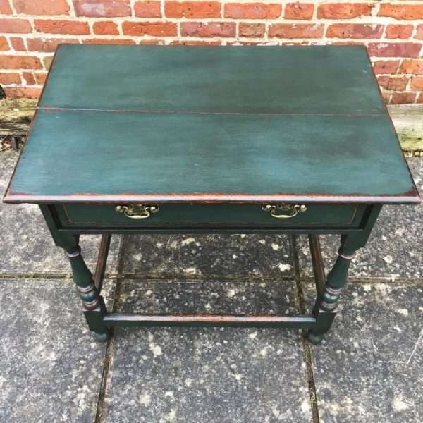 Late Victorian Painted Oak Table1