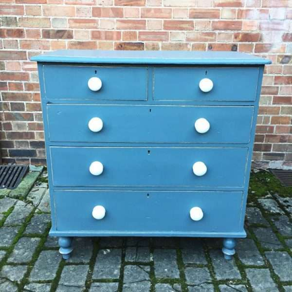 Victorian Painted Pine Chest Of Drawers