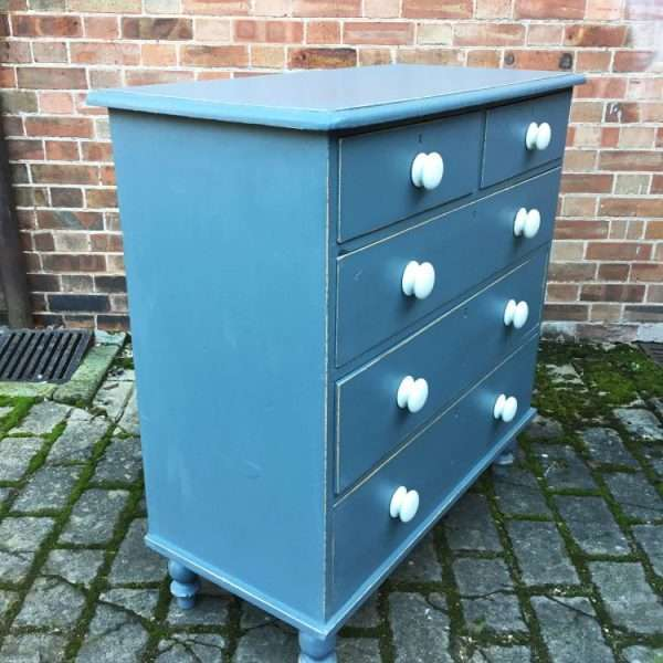 Victorian Painted Pine Chest Of Drawers1