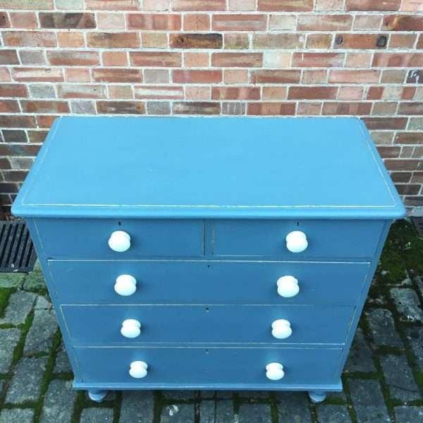 Victorian Painted Pine Chest Of Drawers3