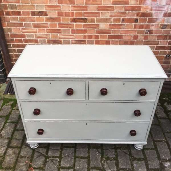 William IV Painted Mahogany Chest Of Drawers1