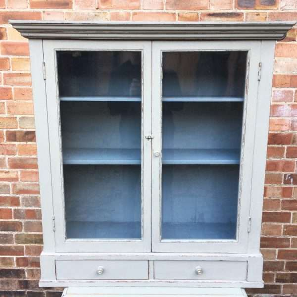 Edwardian Painted Oak Hanging Cabinet