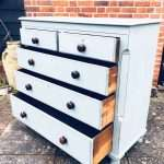 Mid Victorian Painted Mahogany Chest Of Drawers SOLD – Ref:1351